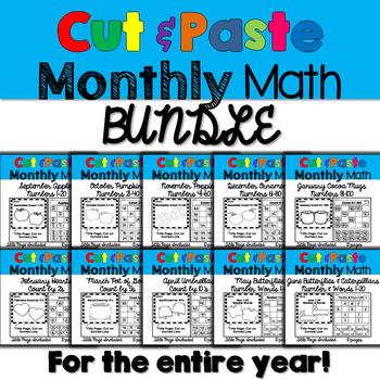 Monthly Cut & Paste Math: Bundle