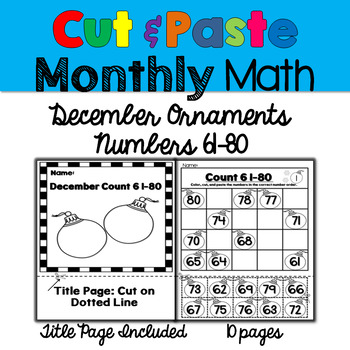 Monthly Cut & Paste Math: December Ornaments 61-80