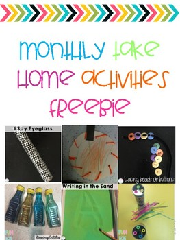 Monthly DIY Take Home Activities Freebies
