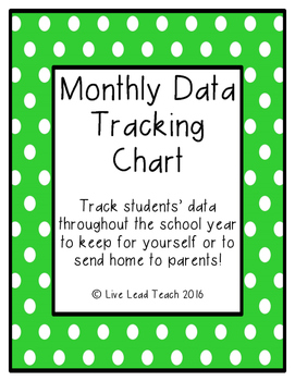 Monthly Data Tracking Chart