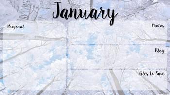 Monthly Desktop Wallpaper Organizer, Personal Use