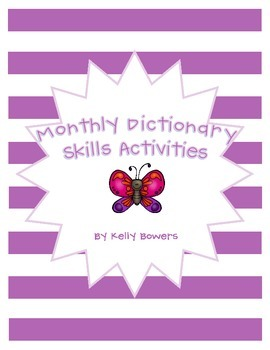 Monthly Dictionary Skills Practice Pack