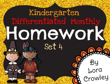 Monthly Differentiated Homework Set 4-November