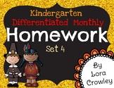 Monthly Differentiated Homework Set 4-November
