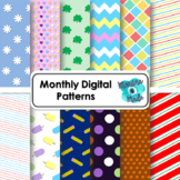 Monthly Digital Patterns