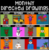 Monthly Themed Directed Drawings BUNDLE