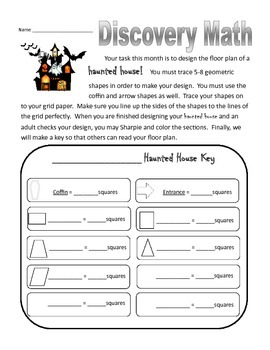 Monthly Discovery Math Activities- third grade