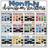 Monthly Discussion Starters for Morning Meeting