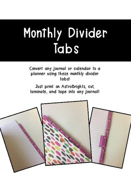 Monthly Divider Tabs