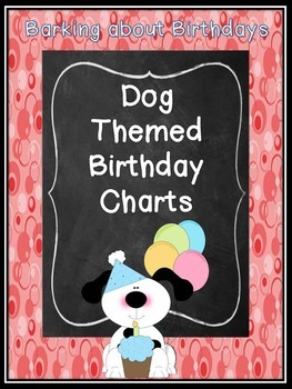 Monthly Dog-Themed Birthday Charts
