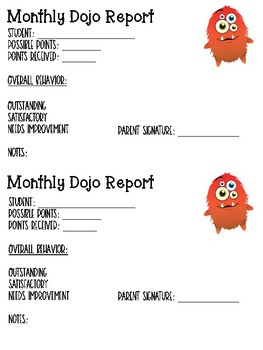 Monthly Dojo Report