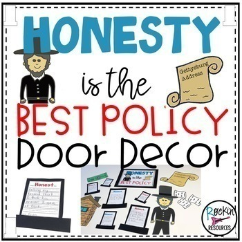 Monthly Door Decor or Bulletin Board for Character Education