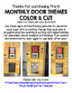 Monthly Door Themes Color & Cut for Pre-K & TK