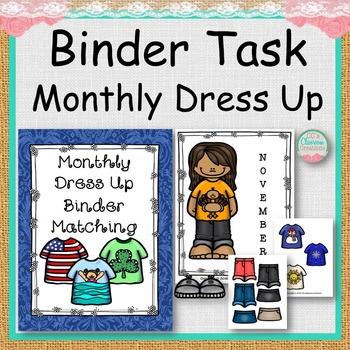BINDER TASK Monthly Dress Up