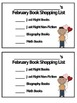 Monthly Editable Book Shopping Cards FREEBIE