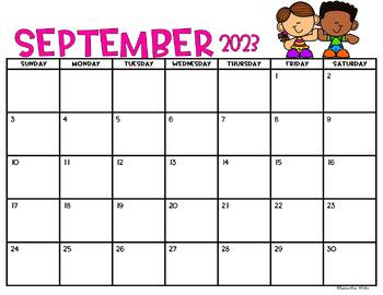 Monthly Editable Calendar 2020-2021 (Kid Theme) by ...