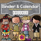 Monthly Editable Calendars & Binder Covers Freebie