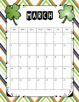 Monthly Editable Calendars & Binder Covers Freebie