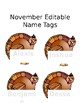 Monthly Editable Name Tags