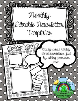 Monthly Editable Newsletter Templates