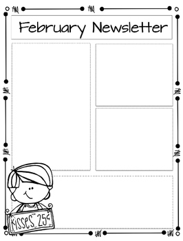 Monthly Editable Newsletters!