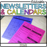 Newsletter Template | Editable Newsletters & Monthly Calendars