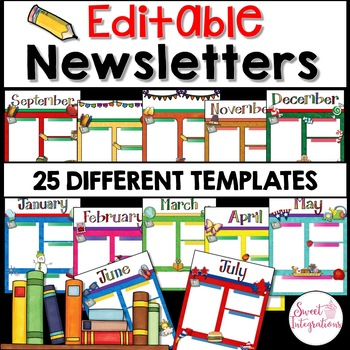 NEWSLETTER TEMPLATE EDITABLE MONTHLY Digital Format Google SlidesTM