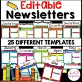 NEWSLETTER TEMPLATES EDITABLE MONTHLY THEMED