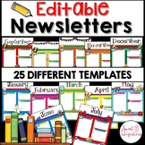 Newsletter Template Monthly: Digital Format