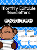 Monthly Editable Newsletters {ENGLISH}