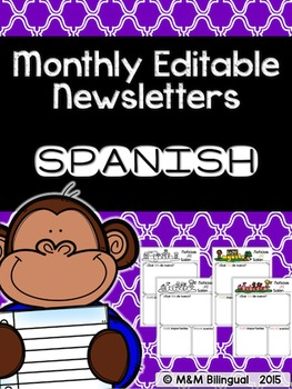 Monthly Editable Newsletters {SPANISH}