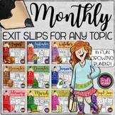 Exit Slips for Any Subject | Growing Bundle