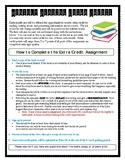 Monthly Extra Credit Reading Assignment Sheet