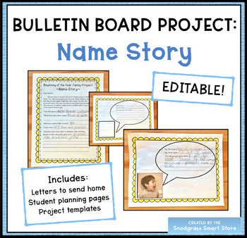 Back-to-School Bulletin Board Activity: Name Story
