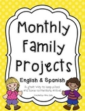 Monthly Family Projects (English & Spanish)
