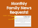 Monthly Family News Request Forms {FREEBIE}