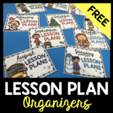 Monthly File Organizer - Month Posters - Lesson Plan Cover