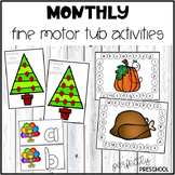 Monthly Fine Motor Tub Activities