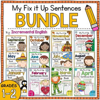 Monthly Fix It Up Sentences BUNDLE