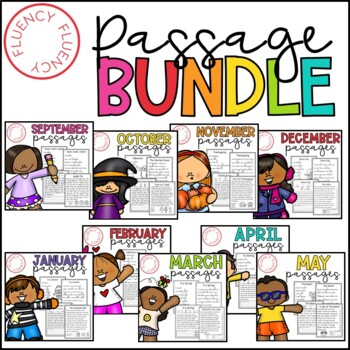 Monthly Fluency Bundle (Differentiated)
