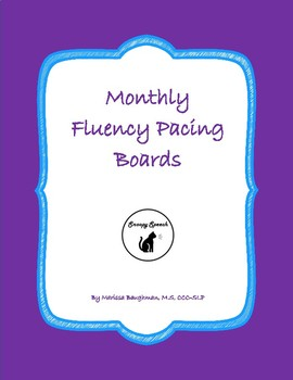 Monthly Fluency Pacing Boards