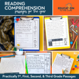 1st, 2nd, and 3rd Grade Reading Comprehension Passages and Questions