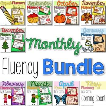 Monthly Fluency Task Card Bundle