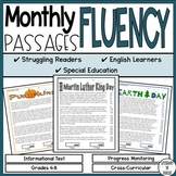 Fluency Passages - Monthly Fluency Tracker