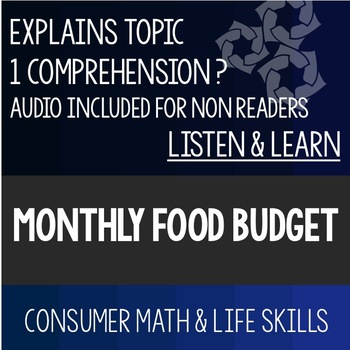 monthly food budget powerpoint high school special education tpt