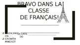 Monthly French Award Certificate