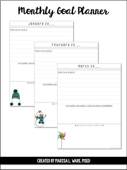 Monthly Goal Planner