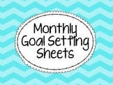 Monthly Goal Setting Sheets