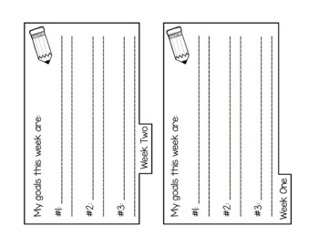 Monthly Goal Setting Tab Books