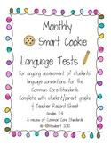 Monthly Grammar Assessments, Common Core, Smart Cookies